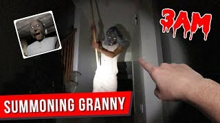 (GRANNY IS HERE) SUMMONING GRANNY AT 3 AM CHALLENGE!! *SCARY*