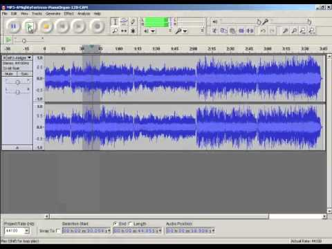 Slow Down Music (Tempo Change) With Audacity Audio Editor