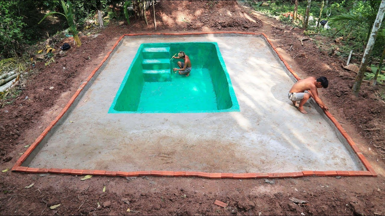 Build swimming pool of water part 2 youtube for Build my pool