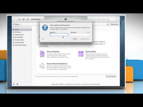 How to authorize/deauthorize your computer using iTunes®