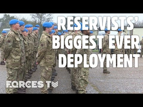 British Reservists Before Their BIGGEST EVER Deployment | Forces TV