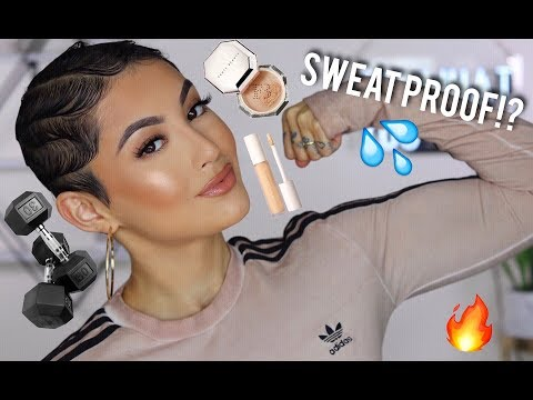 Testing New FENTY Concealer & Setting Powder AT THE GYM.... Sweat Proof Or Nah!?