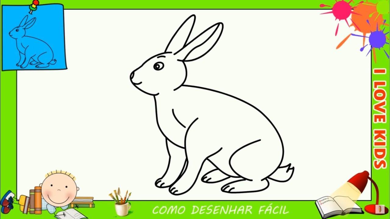 como desenhar um coelho facil passo a passo para crianças e