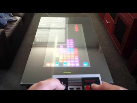 Tetris gameplay on LED game table using arduino