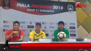Pre Match Press Conference Madura United di Piala Presiden 2018