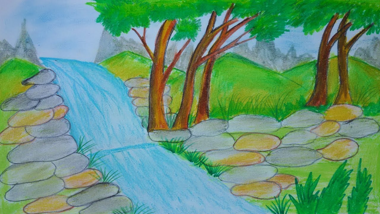 This is a picture of Revered Water Fall Drawing