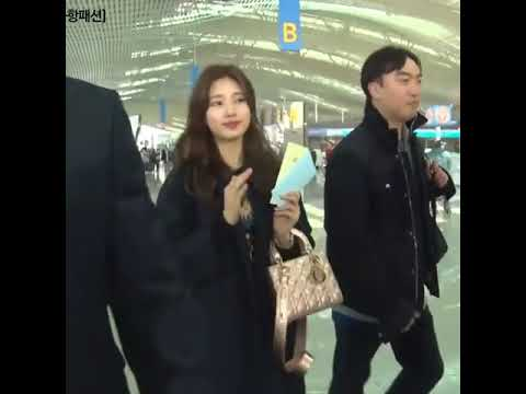 SUZY 배수지  at Icheon Airport go to Paris