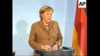 WRAP Japanese PM meets Merkel, presser