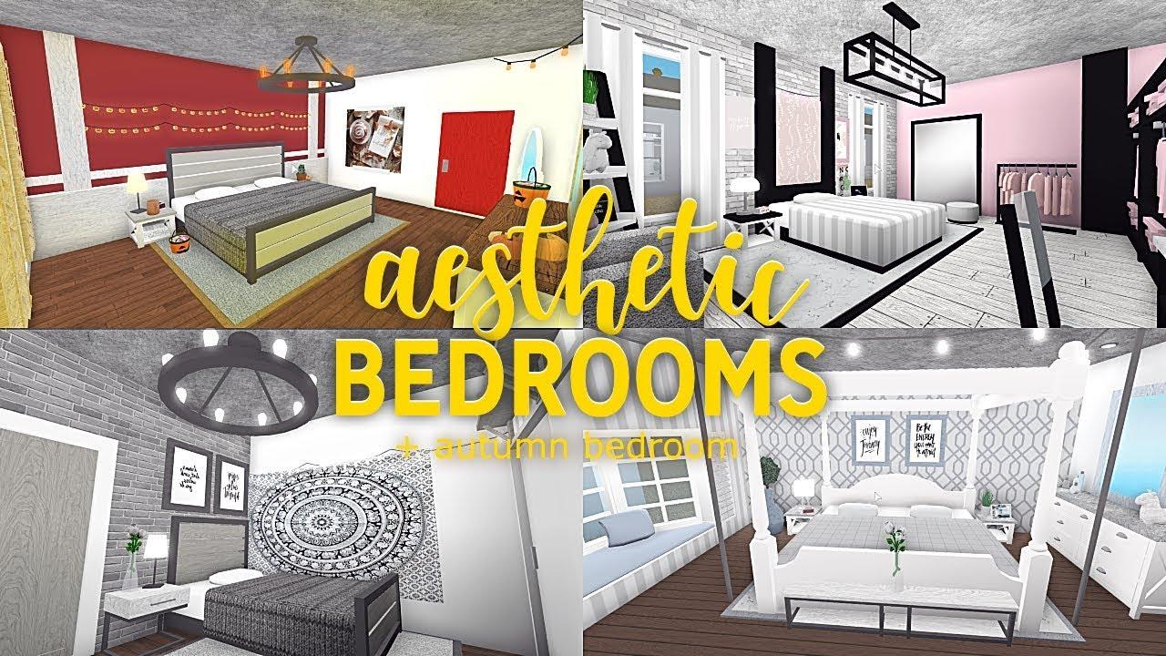 Roblox | Bloxburg | Aesthetic Bedrooms + Autumn Bedroom ... on Room Decor Ideas De Cuartos Aesthetic id=19083