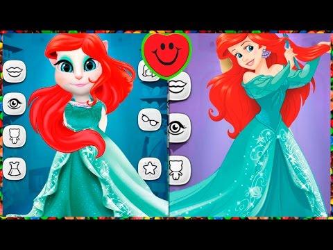 МОЙ ГОВОРЯЩИЙ ТОМ И ГОВОРЯЩАЯ АНДЖЕЛА Mermaid disney princess Русалочка TALKING ANGELA игровой мульт