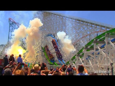 [HD] Twisted Colossus Grand Opening Fireworks Ceremony - Six Flags Magic Mountain