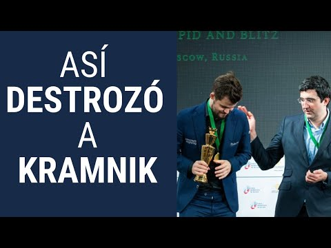 Así destrozó Carlsen a Kramnik con el Sistema Londres - Campeonato del Mundo Blitz 2019