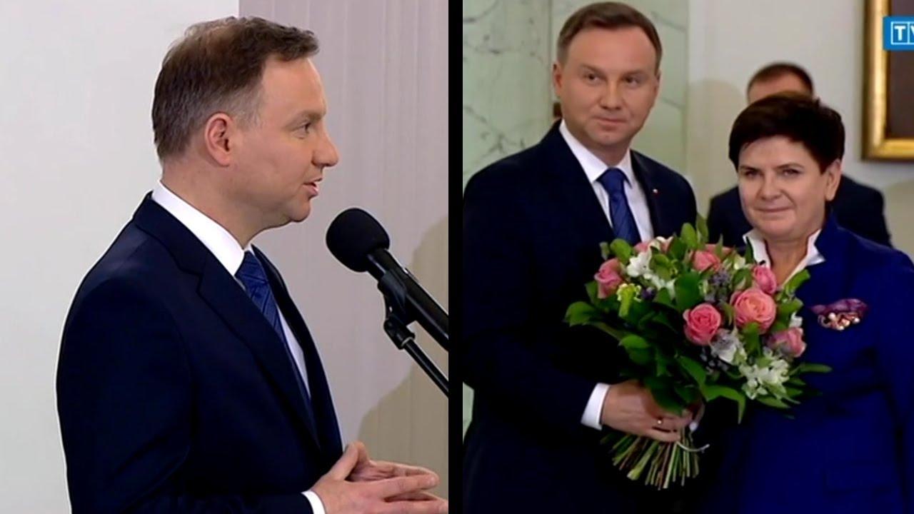 Przemówienie Prezydenta Andrzeja Dudy po przyjęciu dymisji Premier Beaty Szydło