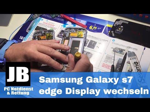Samsung Galaxy s7 edge Display wechseln / tauschen deutsch