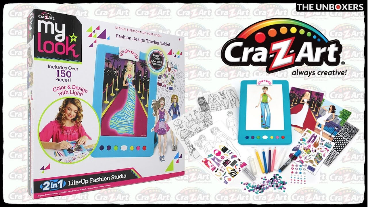 Cra Z Art Shimmer N Sparkle 2 In 1 Lite Up Fashion Studio Youtube