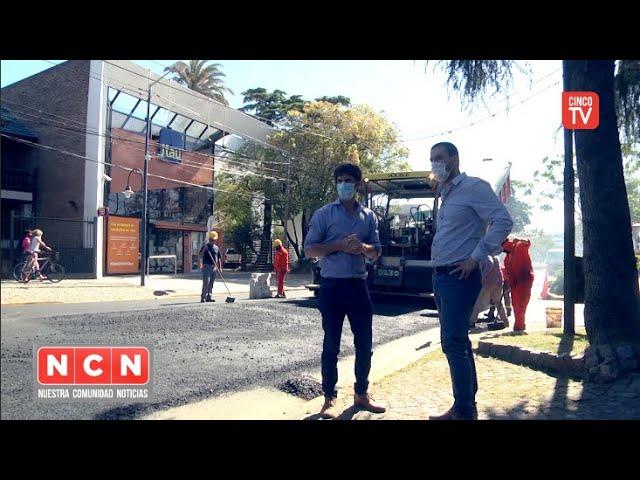 CINCO TV - Juan Andreotti supervisó la obra de repavimentación de la Av. Libertador