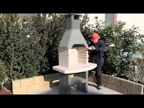 Assembly of Charcoal Masonry BBQ Barbecue Grill by Sunday Grill