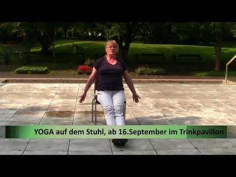 Der Trinkpavillon...macht Yoga auf dem Stuhl! Start: 16.09.2017