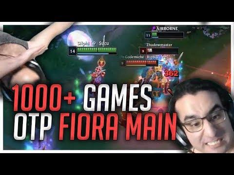 1000+ Games OTP Fiora Main! Stream Highlights [League of Legends] thumbnail