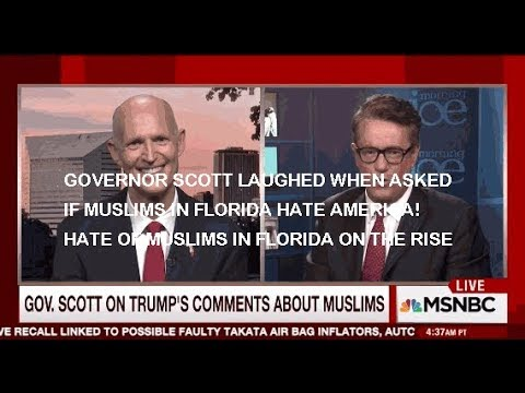 Florida Gov Rick Scott's Dodges Question: Do Muslims in Florida Hate America? Do They?