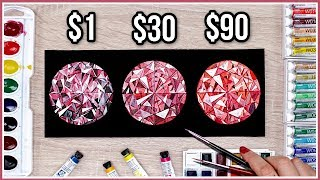 CHEAP vs EXPENSIVE Art Supplies - Does The Price Really Matter? Testing Watercolor Paint & Paper!