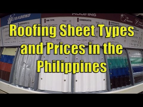 Roofing Sheets Types And Prices In The Philippines Youtube