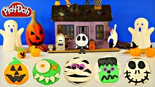 How To Make Halloween Play Doh Cupcakes Jack Skellington Frankenstein Jack-o-lantern By Dctc