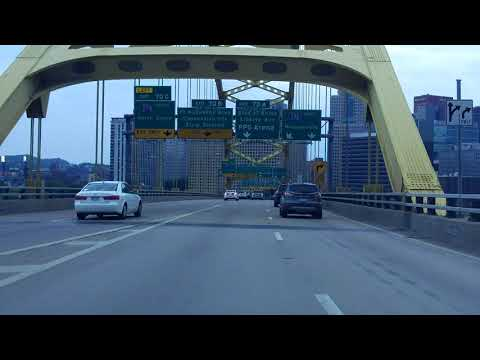 Pittsburgh, PA Expressway & Bridge Tour eastbound