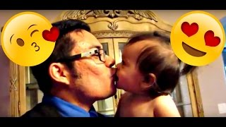ADORABLE BABY LEARNS TO KISS | Plus Positive Reinforcement Sticker Chart.