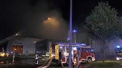 [MILLIONENSCHADEN NACH BRAND | BURSCHEID] Firma in Vollbrand | Rauchsäule | Feuerwehr Burscheid