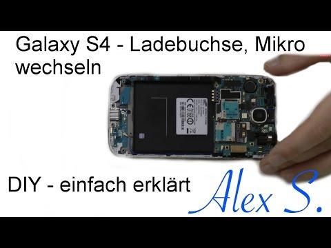 Samsung Galaxy S4 USB, Ladebuchse, Mikro wechseln, reparieren, tauschen Deutsch
