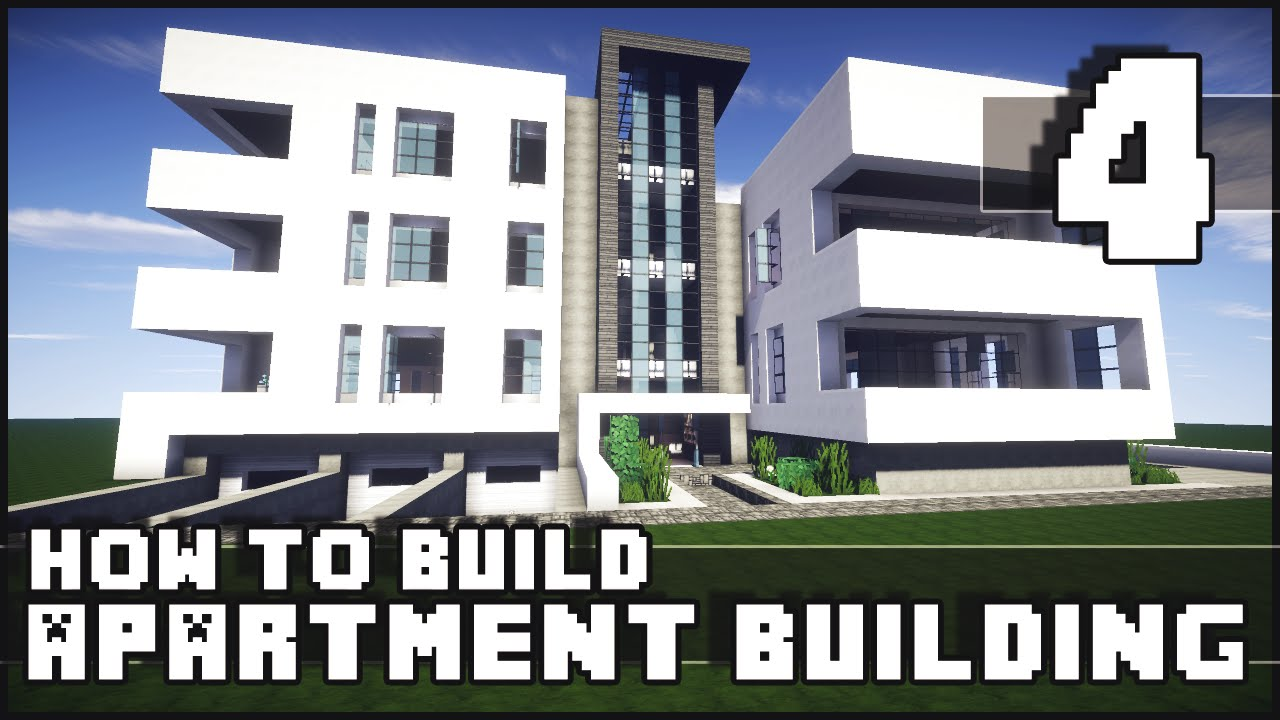 Minecraft How To Build Modern Apartment Building Part 4