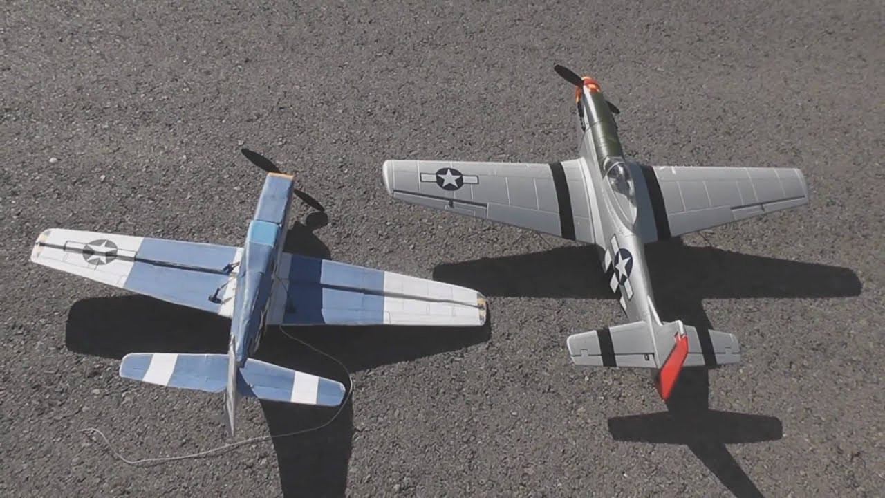 Homemade Rc Plane Mustang Crashes On Take Off Youtube