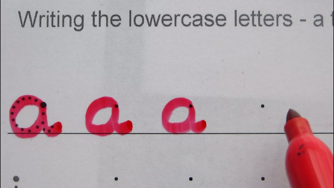 24. Write the English Alphabet - LOWERCASE letters - YouTube