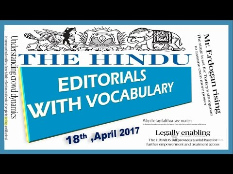 18, April,2017 The Hindu Editorial Discussion,Vocabulary,Hiv aids Bill, Antarctica melting