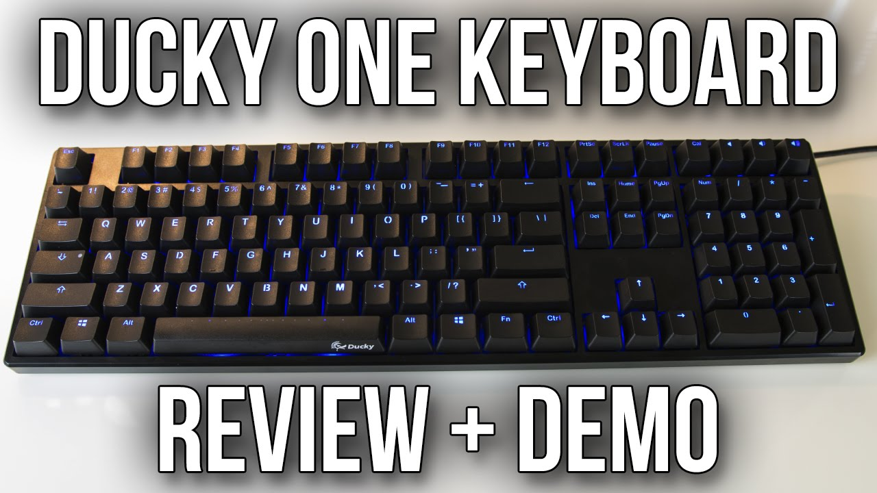 Ducky One Mechanical Keyboard Review and Demo