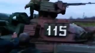 Самооборона захватила танк Родинское  war in Ukraine