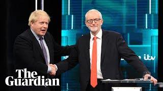Johnson and Corbyn shake hands as they pledge to improve politics
