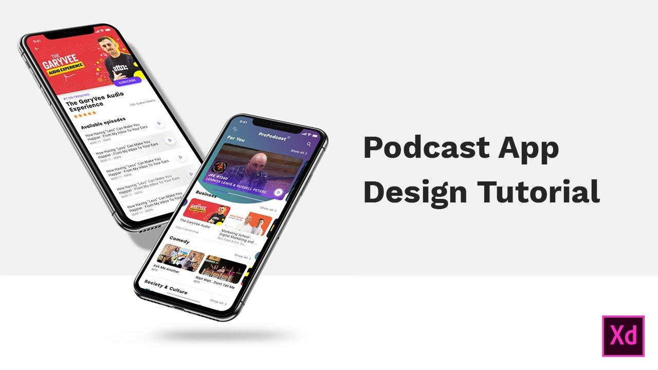 Design a Podcast App Using Adobe XD - Raddy