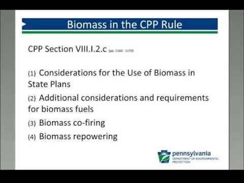 Northeast Bioenergy Webinars – Biomass & the Clean Power Plan