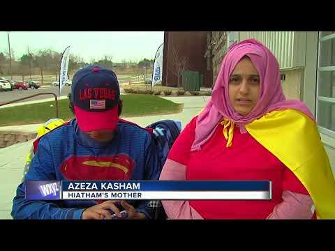 People dressed as super heroes to help metro Detroit kid battling rare disease