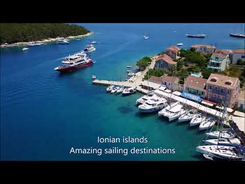 Ionian islands on a sailing yacht