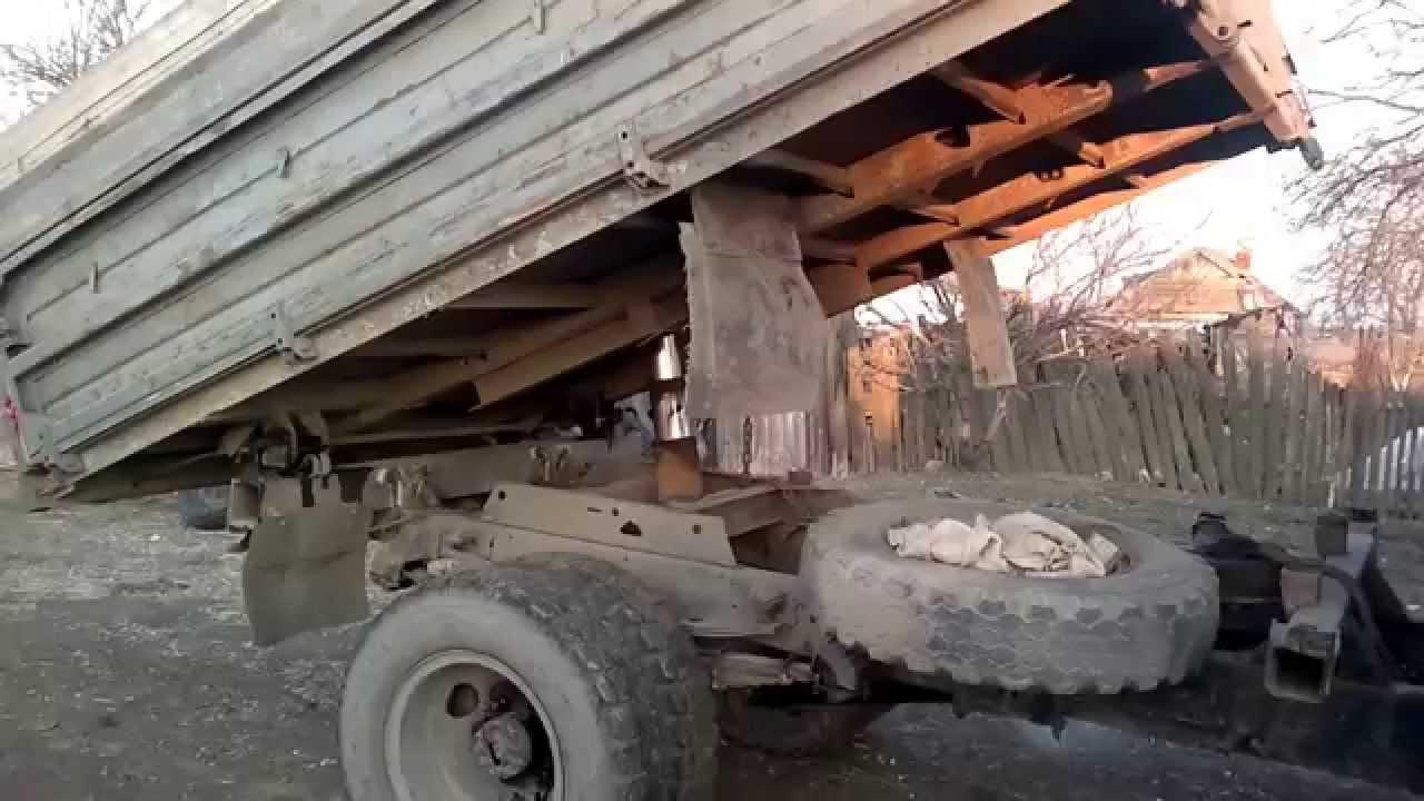 Самосвал МАЗ 5551 подъем кузова