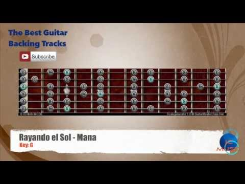 Rayando el Sol - Mana Guitar Backing Track with scale chart
