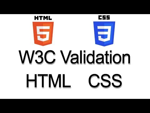Html Css Validation By W3c