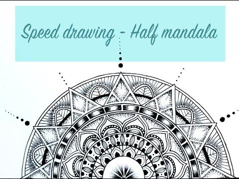 Half Mandala Drawing - YouTube - photo#10