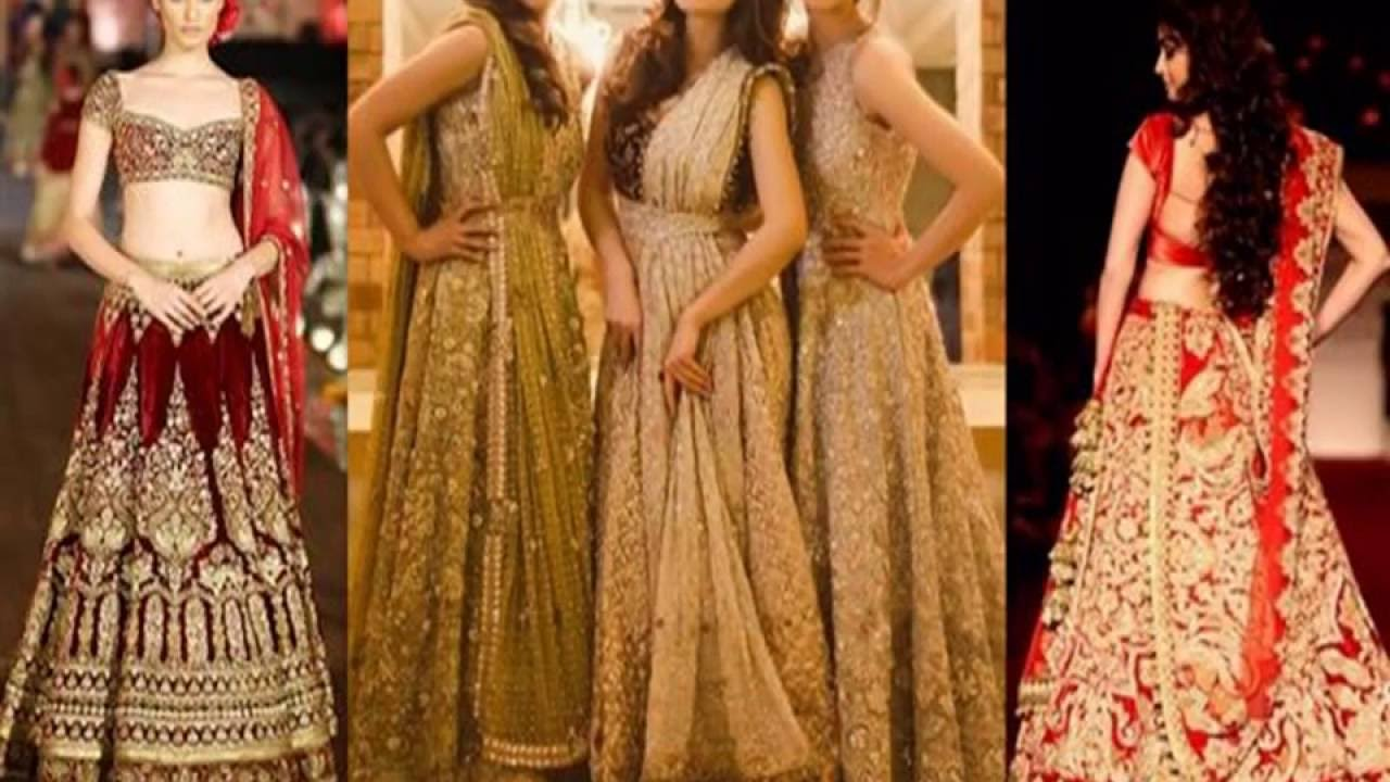 Go bold with golden bridal dresses on your wedding day - YouTube