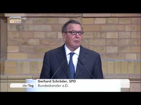 Verleihung des Ludwig-Erhard-Preises: Rede von Gerhard Schröder am 20.09.2016