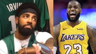 Kyrie Irving Schools Reporter&SHUTS DOWN Kawhi Leonard LeBron James Comparison 'Who Cares?'