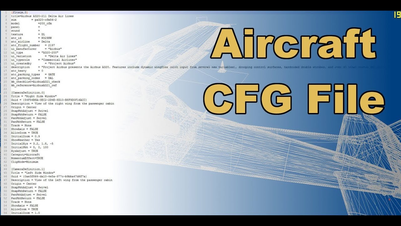 Aircraft CFG  Easy to edit things, plus Weight and Balance